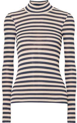 Nanushka - Alana Striped Modal Turtleneck Sweater - Navy