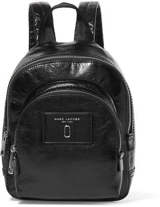 Marc Jacobs Mini Double Glossed-leather Backpack - Black
