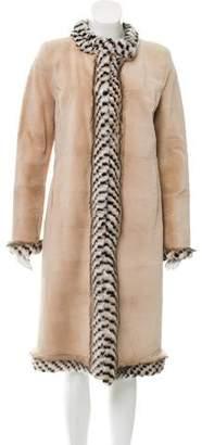 Oscar de la Renta Long Mink Fur Coat w/ Tags
