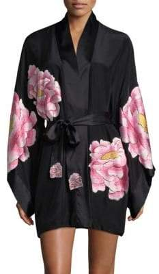 Natori Silk Peony Robe