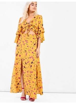 Glamorous **Floral Cut Out Maxi Dress