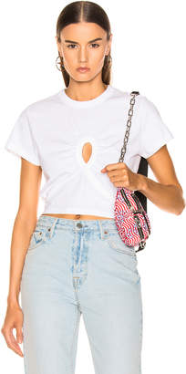 Alexander Wang Keyhole Twist Cropped Tee in White | FWRD
