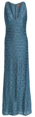 Missoni Fluted Metallic Crochet-Knit Gown