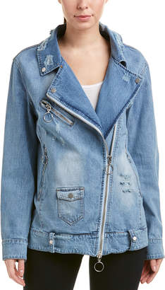 Bagatelle Oversized Denim Biker Jacket