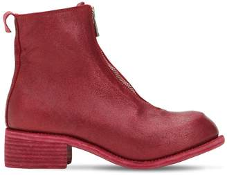 Guidi 1896 Zip-Up Leather Ankle Boots