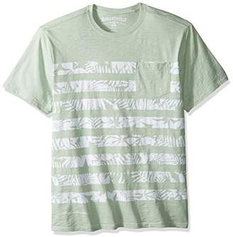 Margaritaville Men's Leaf Stripe Pocket T-Shirt