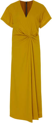 Narciso Rodriguez Wool Crepe Tie Dress