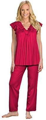 Shadowline Women's Silhouette Short Cap Sleeve Pajama Set