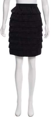 Lanvin Tiered Knee-Length Skirt