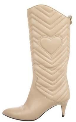 Gucci GG Matelasse Leather Boots