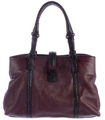 Bottega VenetaBottega Veneta Intrecciato-Trimmed Roma Bag