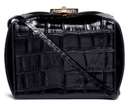 Alexander McQueen Alexander McQueen 'The Box Bag' in croc embossed patent leather