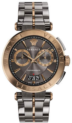 Versace Aion Chronograph Bracelet Watch, Silver