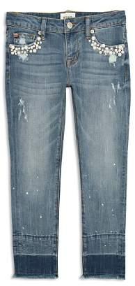 Hudson Girls' Karen Embellished Cropped Skinny Jeans - Big Kid