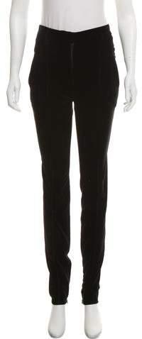 Prada Skinny-Leg Velvet Pants
