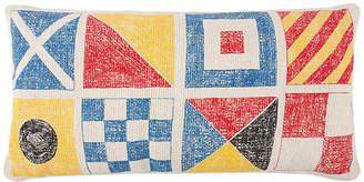 Thomas Paul Flags/Knots Sketch 18x34 Pillow