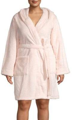 Lord & Taylor Hooded Long-Sleeve Robe