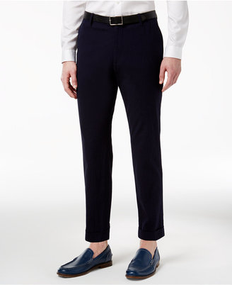 INC International Concepts Men's Seersucker Slim-Fit Cropped Pants, Only at Macy's $59.50 thestylecure.com