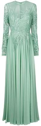 Elie Saab long-sleeve embroidered dress