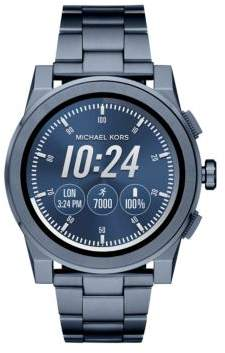 Michael Kors Grayson Blue IP Touchscreen Bracelet Smartwatch