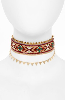 Women's Panacea Embroidered Choker $40 thestylecure.com
