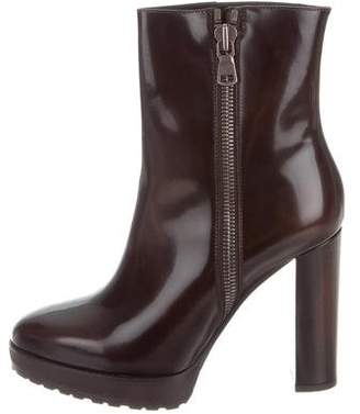 Brunello Cucinelli Patent Leather Ankle Boots w/ Tags
