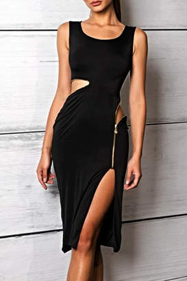 Savee Couture Savee Zipper Swirl Dress