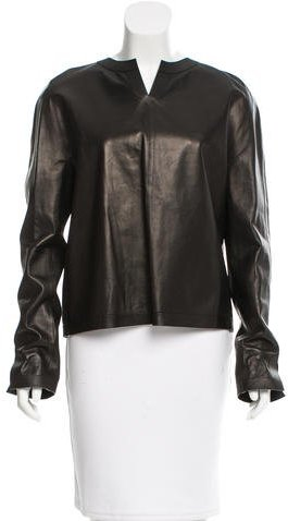 Tom Ford Long Sleeve Leather Top