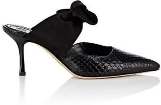 The Row Women's Coco Snakeskin Mules - Black, Black