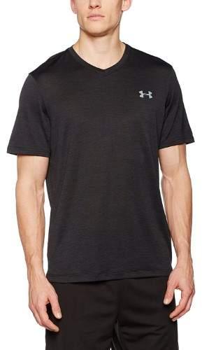 Under Armour Tech V-Neck T-Shirt - Short-Sleeve - Men's Black/Steel, M