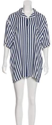 Onia Short-Sleeve Button-Up Dress