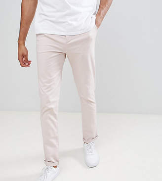 Asos DESIGN Tall slim chinos in ice pink