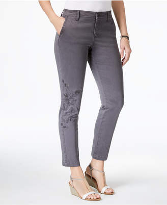 Style&Co. Style & Co Embroidered Skinny Pants, Created for Macy's