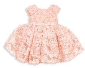 Couture Tutu Baby's Two-Piece Sunshine& Me 3D Floral Mesh Dress& Diaper Cover Set