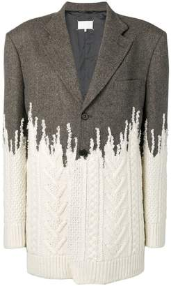 Maison Margiela tailored knitted combination coat