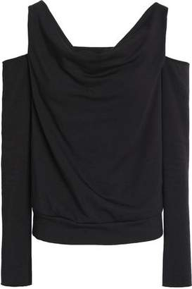 Bailey 44 Cold-Shoulder Stretch-Modal Fleece Top