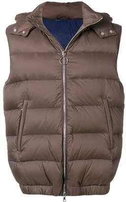 Eleventy zipped padded vest
