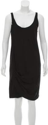 Helmut Lang Asymmetrical Sleeveless Mini Dress