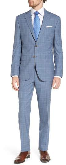 Ryan Classic Fit Plaid Wool Suit