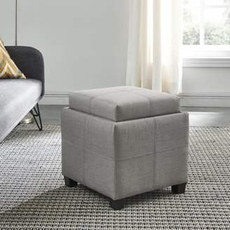 Worldwide Homefurnishings Fabric Storage cube with reversible tray lid