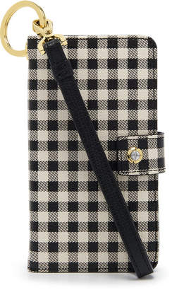 Henri Bendel Dakota Gingham Wristlet For Iphone 7/8