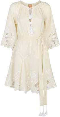 Dragon Optical March11 Linen Flower Mini Dress