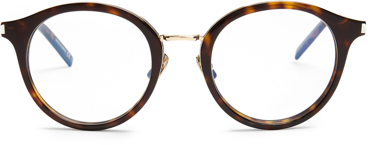 Saint Laurent SAINT LAURENT Round-frame acetate glasses