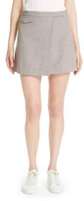 Theory Fremont Plaid Miniskirt