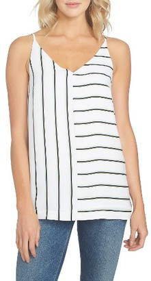 Women's 1.state Mixed Stripe Tank $69 thestylecure.com