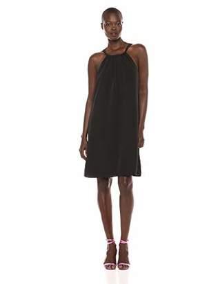 Lark & Ro Women's Sleeveless Tie Neck Shift Dress