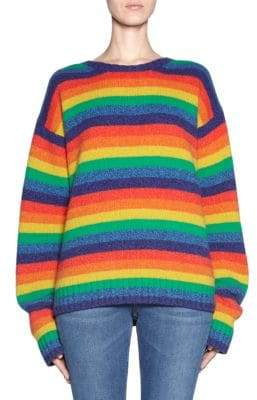 Acne Studios Wool Rainbow Stripe Sweater