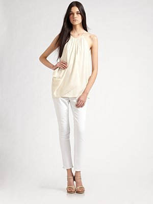 Terabi Draped Silk Top
