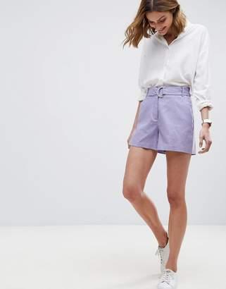 Asos DESIGN Tailored D-Ring Linen Shorts