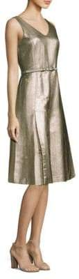Lafayette 148 New York Lois Metallic A-Line Dress